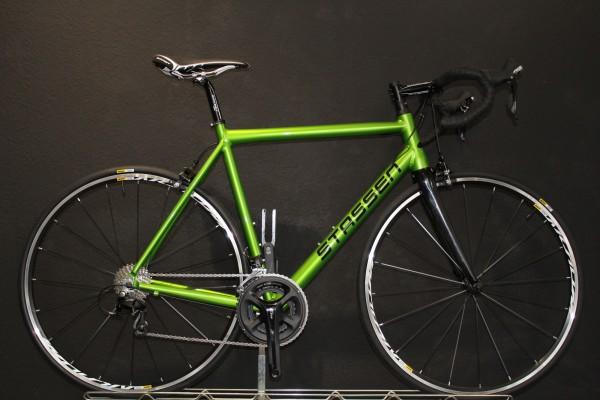 Stassen- Race / Rennrad, Onroad Lite, Shimano 105, 22 Gang, RAL Dormantapplegreen glänzend
