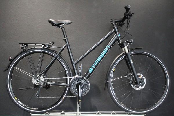 Stassen- Trekkingrad, Deore, 30 Gang, standard Schwarz matt